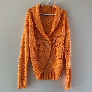Unique Knit Cardigan // Pastel Orange